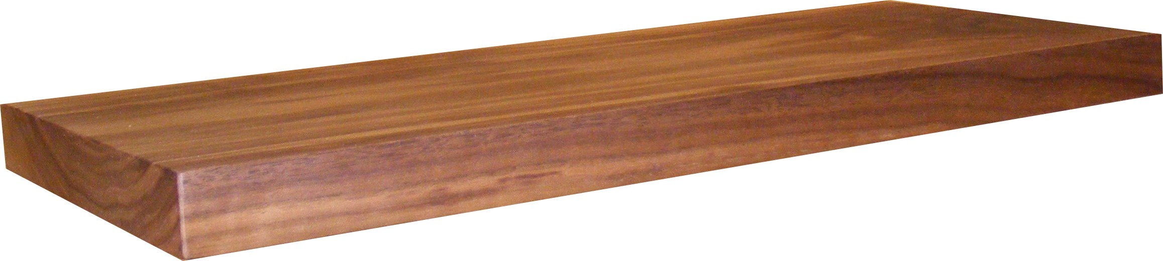 Solid American Black Walnut Floating Shelf - 50mm Thick