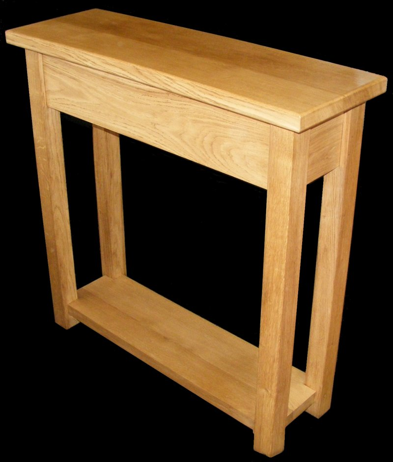 Handmade Solid Oak Hall Console Table