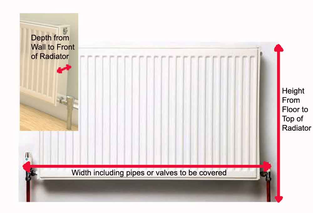 How to measure for your radiator cabinet